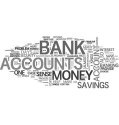 Arrays of bank accounts text word cloud concept vector