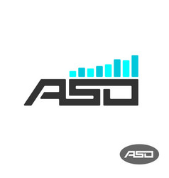 aso letters logo app store optimisation vector image