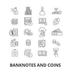 Banknotes and coins money euro guilloche bank vector