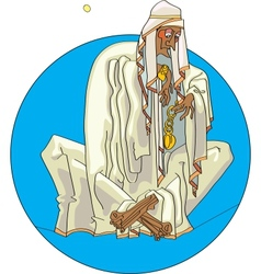 Bedouin with clock vector