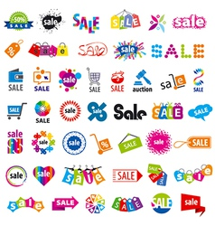 biggest collection logos sale vector image