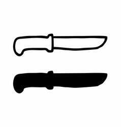 black and white knives vector image