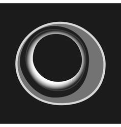 Black white abstract circles for cover vector