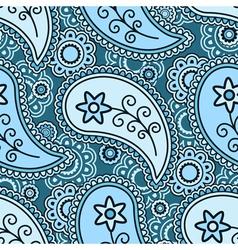 Blue paisley pattern vector