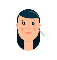 Botox eye area vector