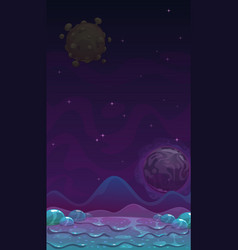 Cartoon alien slimy landscape fantasy slime vector