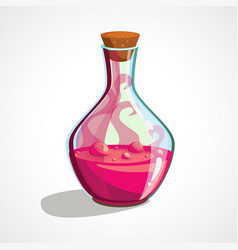 Cartoon flask with witch s potion vector