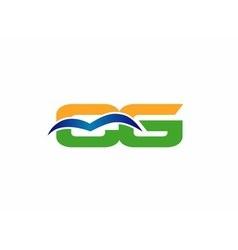 CG initial company group logo vector