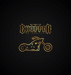 Chopper motorcycle logotype vector