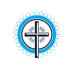 christian cross true belief religion symbol vector image