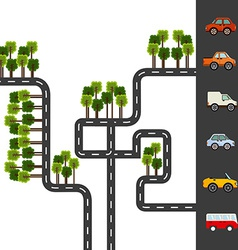 city roads vector image