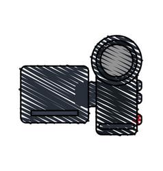color crayon stripe image digital video camera vector image