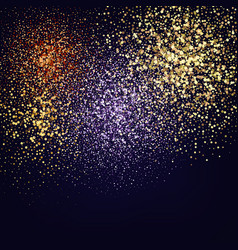 color glitter texture isolated on black amber vector image