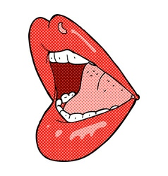 Comic cartoon open mouth vector