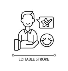 Customer satisfaction linear icon vector