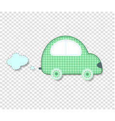 Cute baby clip art car for scrapbook or kids vector