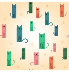 Cute colored cat vector image