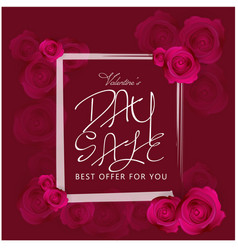 day sale best offer for you roses background vector image