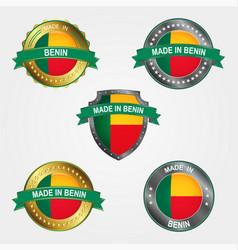 design label made in benin vector image