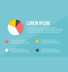 diagram design business infographic collection vector image