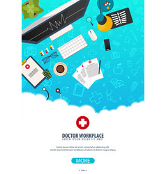Doctor workplace medical poster health care vector