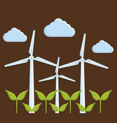 eolic turbines design vector image