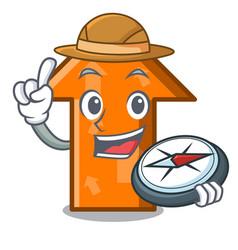 explorer arrow mascot cartoon style vector image