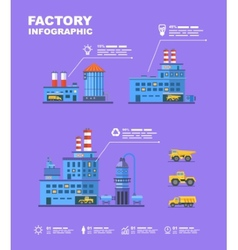 Factory set Flat info graphic elements vector image