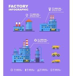 Factory set Flat info graphic elements vector