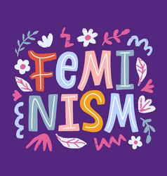 Feminism movement creative poster vector