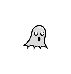 ghost head flying for funny halloween icon vector image