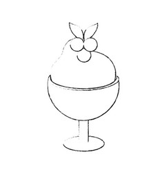 ice cream on glass cup vector image
