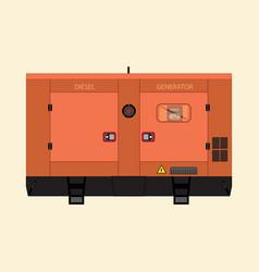 Industrial diesel generator vector