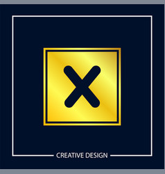 initial letter x logo template design vector image
