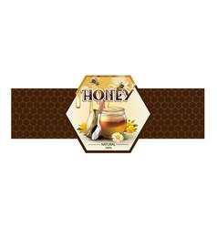 label for honey on white background vector image