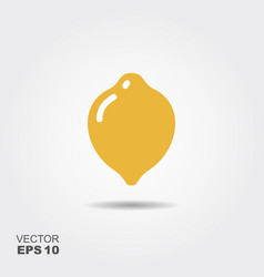 lemon flat icon with shadow vector image