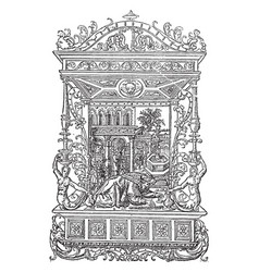Les heures is an engraving by geoffroy tory vector