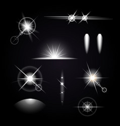 Light effects icon set vector