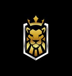 lion king logo template vector image