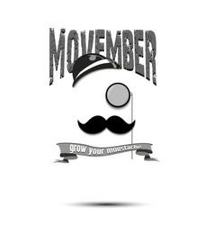 logo poster banner movember vector image