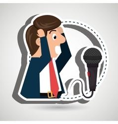Man speaker radio microphone vector