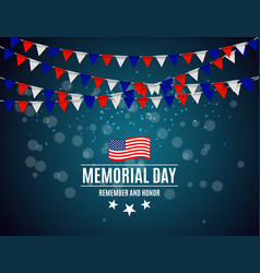 Memorial day in usa background template vector