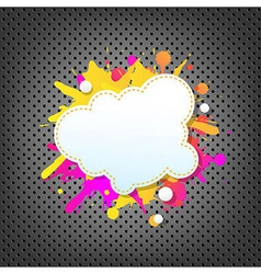 Metal Background With Color Speech Bubble vector image