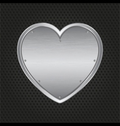 Metal heart vector