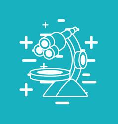 microscope tool icon vector image