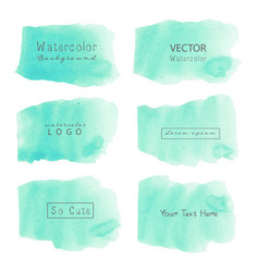 Mint watercolor background pastel watercolor vector