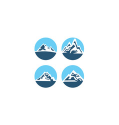 mountain collection vector image
