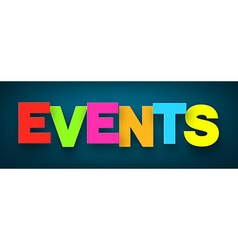 Paper events sign vector