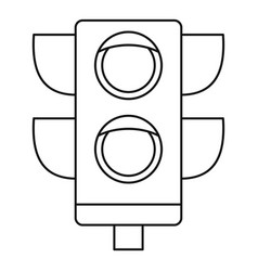 Pedestrian semaphore icon outline style vector