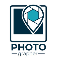 photographer studio or company logotype icon vector image